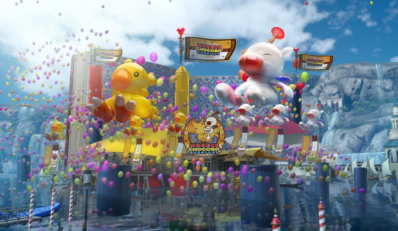 Final Fantasy 15 Moogle Chocobo Carnival