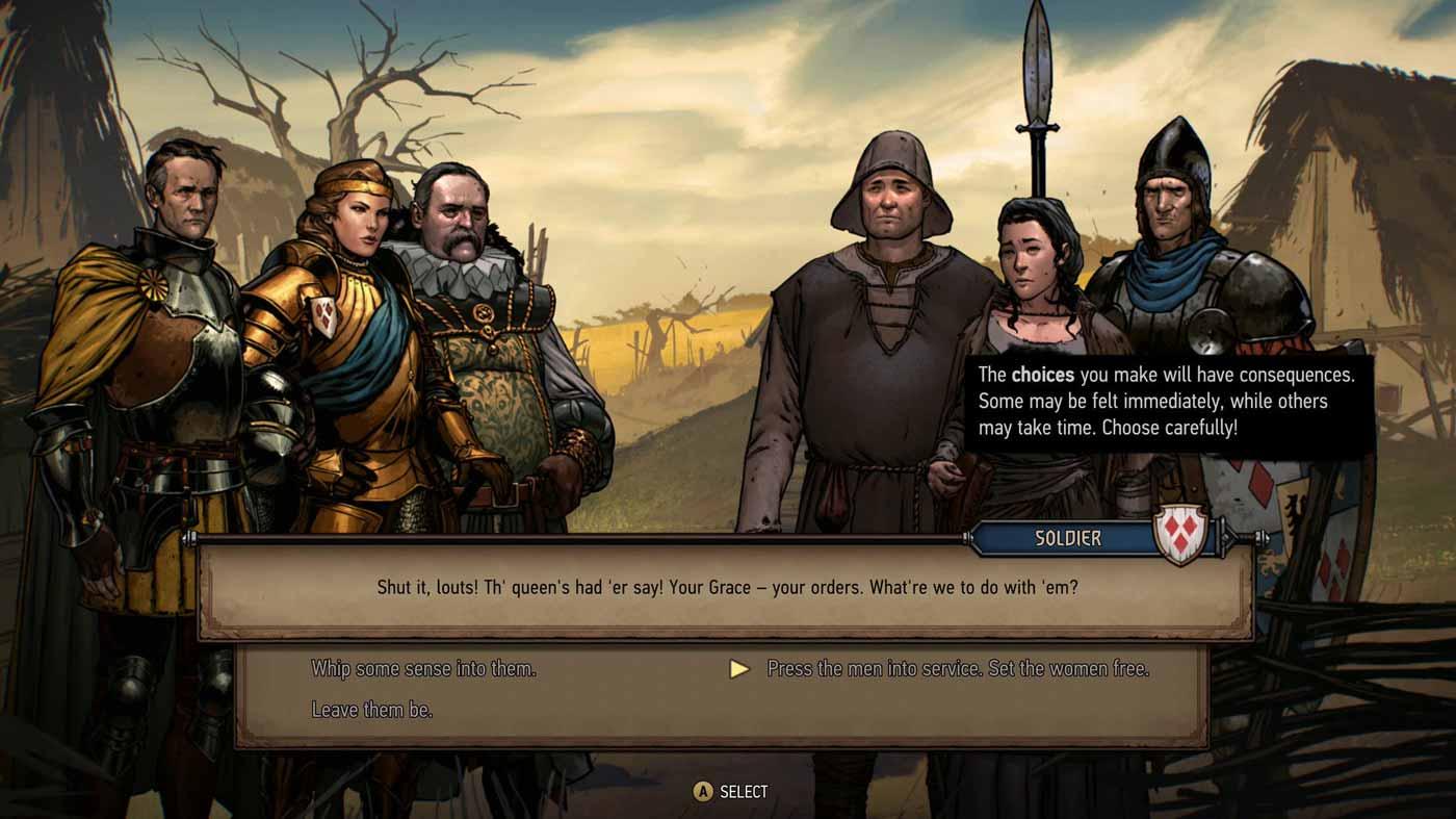 Thronebreaker párbeszéd
