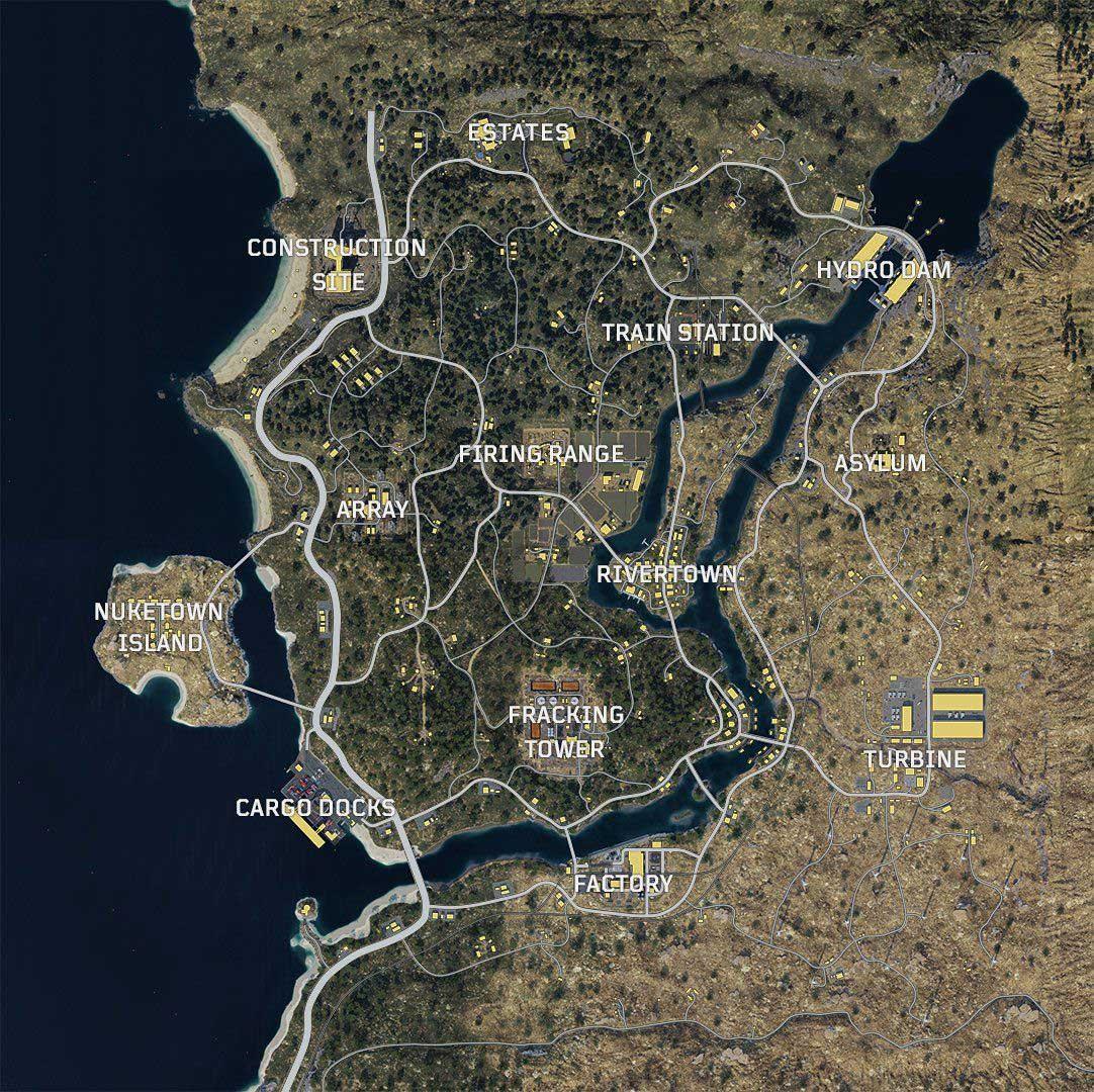 Call of Duty: Black Ops 4 Blackout térkép